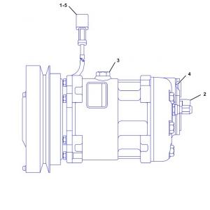 3836001 компрессор кондиционера