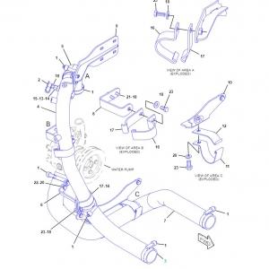 3726362 шланг радиатора охлаждения верхний